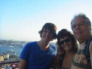 Auf dem Galata-Turm mit Heiner und Petra