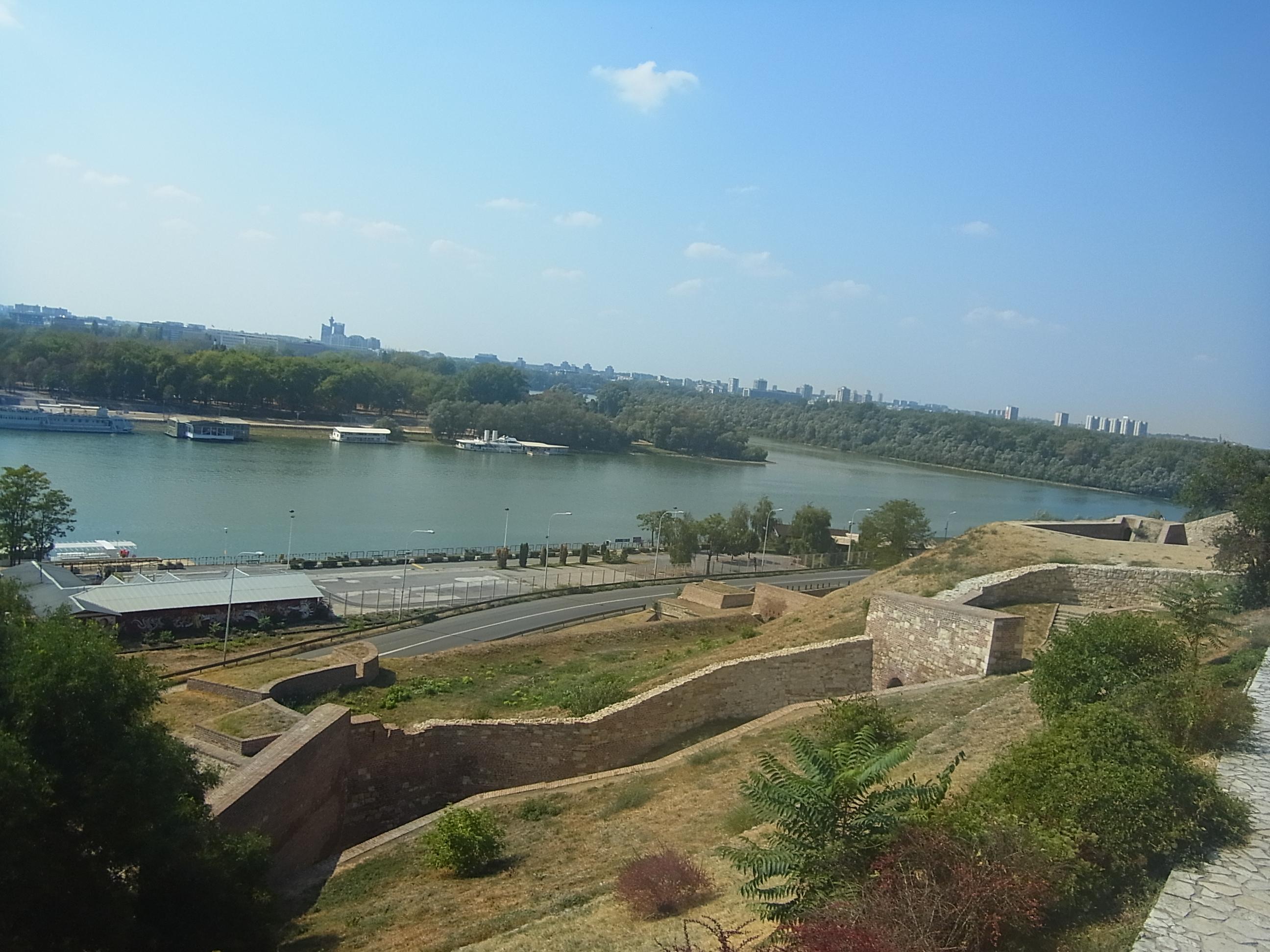 Belgrad vom Festungshuegel aus