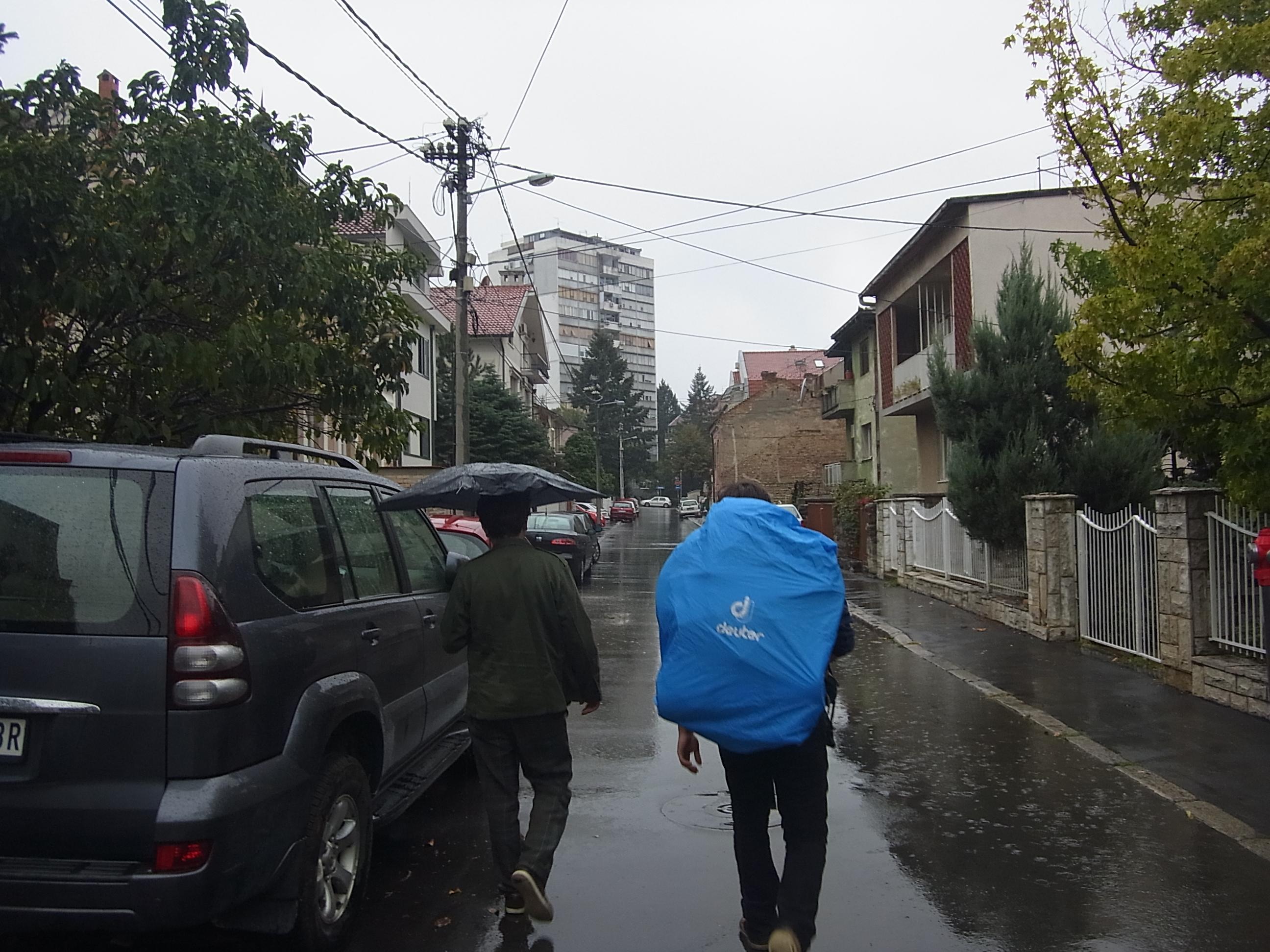 Schon wieder im Regen