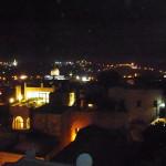 Jerusalem vom Hosteldach bei Nacht