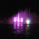 Wassershow am Hafen