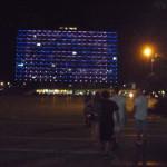 Rathaus mit Israel-Flagge