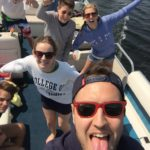 On-a-boat-Feiern