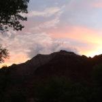 Sonne hinter Berg